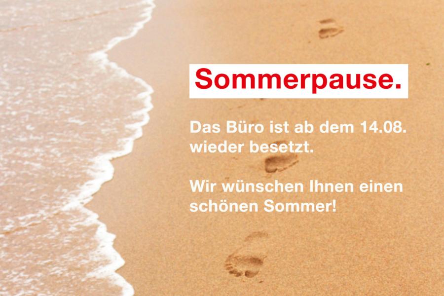 Das Büro von Christoph Bratmann ist bis zum 14.08. in der Sommerpause.